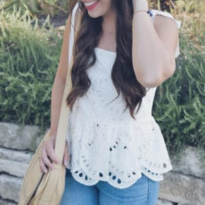 THE CUTEST EYELET TANK