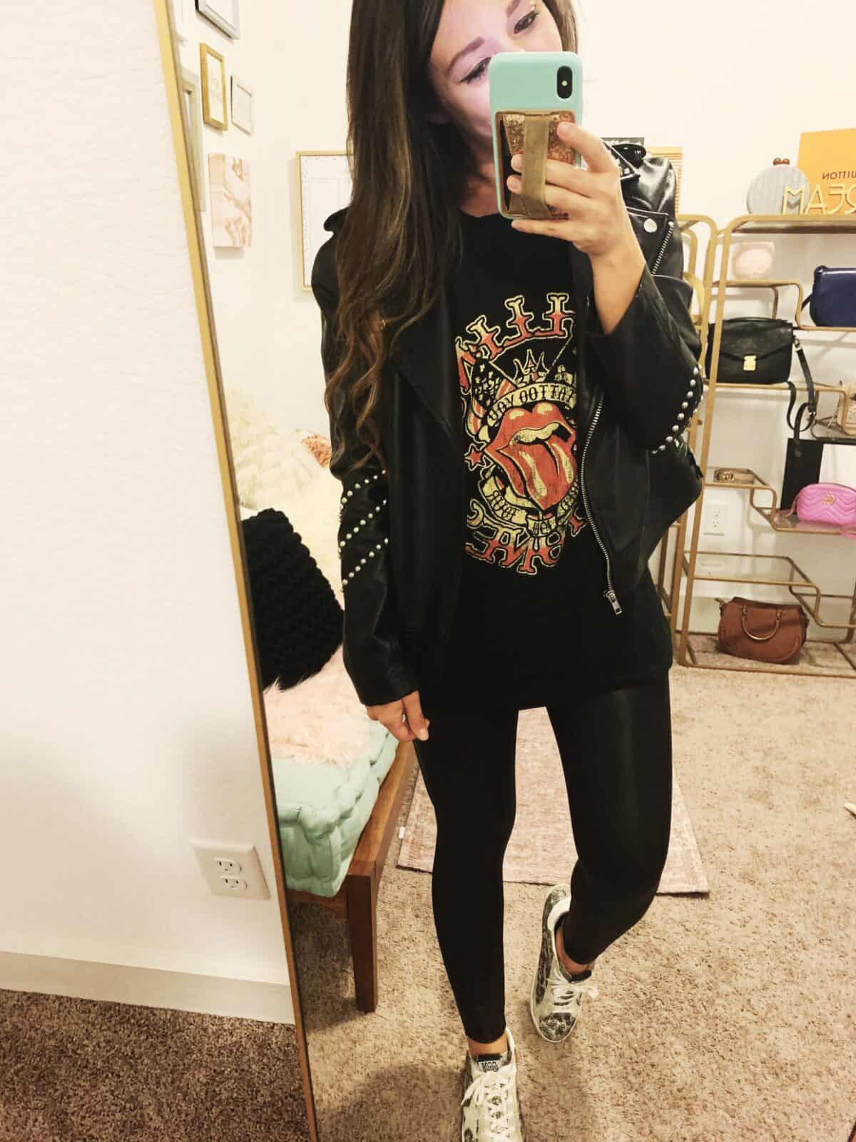 graphic tee styled for Fall