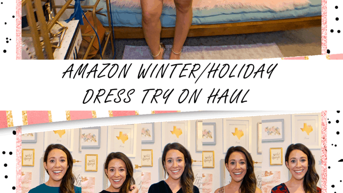 AMAZON WINTER/HOLIDAY DRESS TRY ON