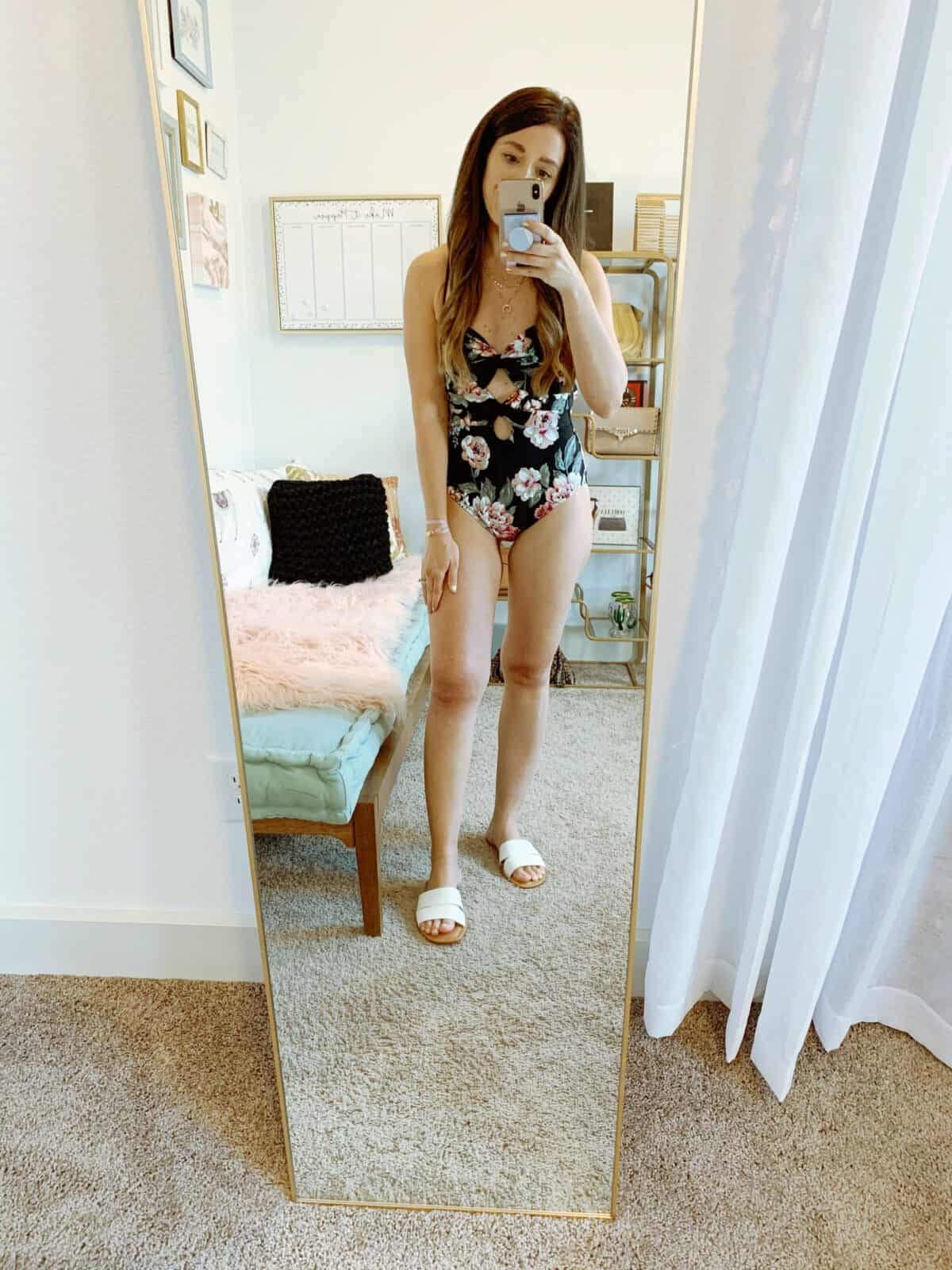 Walmart bathing suit floral print