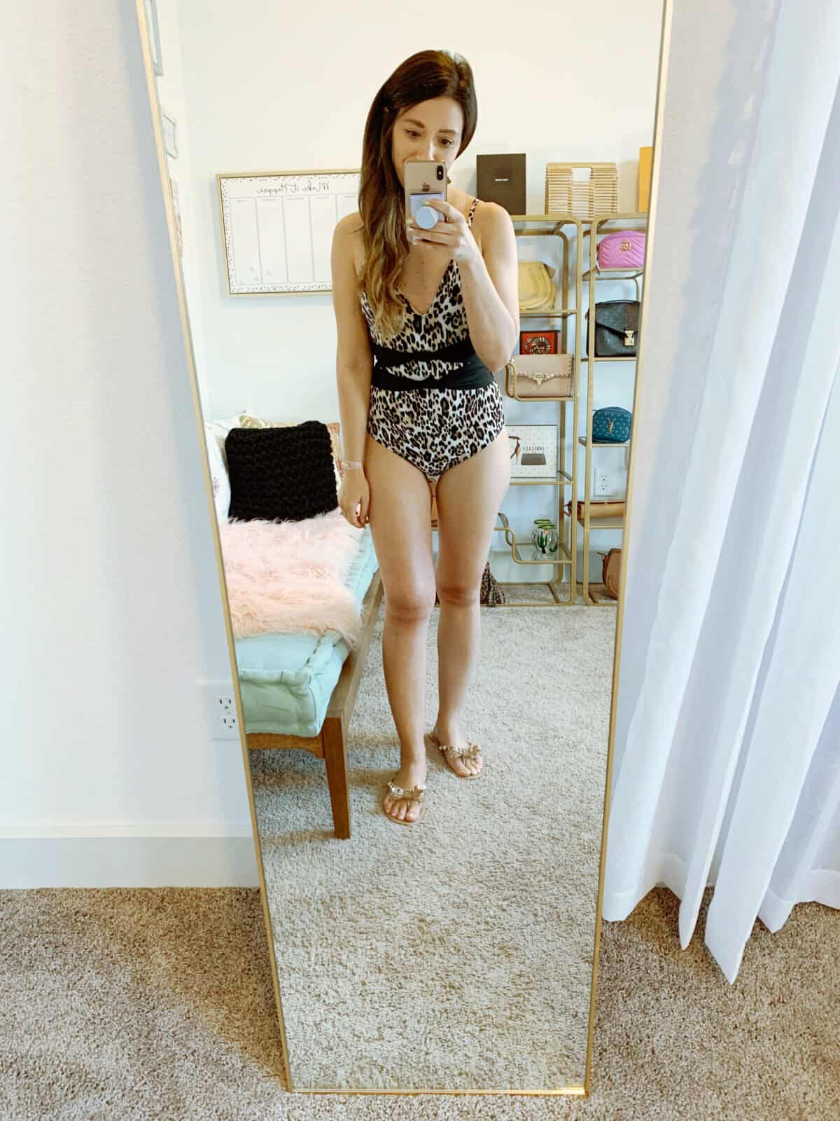 walmart bathing suit leopard one piece